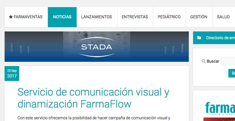 FarmaVentas destaca el Sevicio Comunicación Visual FarmaFlow