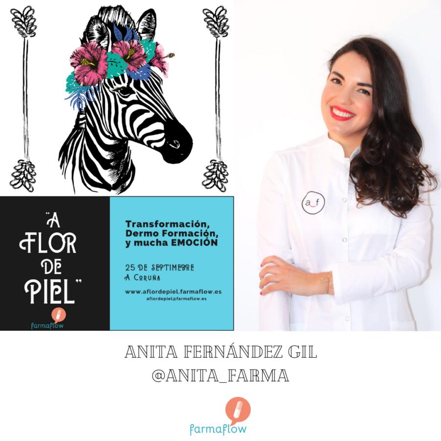 """Anita Fernandez. Ponente Evento Formativo Experiencial """"A Flor de Piel"""" FarmaFlow. Presencial y streaming"""