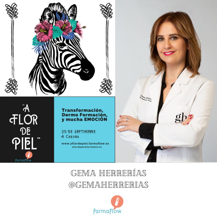 """Gema Herrerias. Ponente Evento Formativo Experiencial """"A Flor de Piel"""" FarmaFlow. Presencial y streaming"""